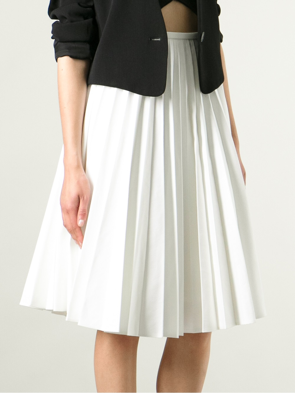 j w pleated skirt in white lyst