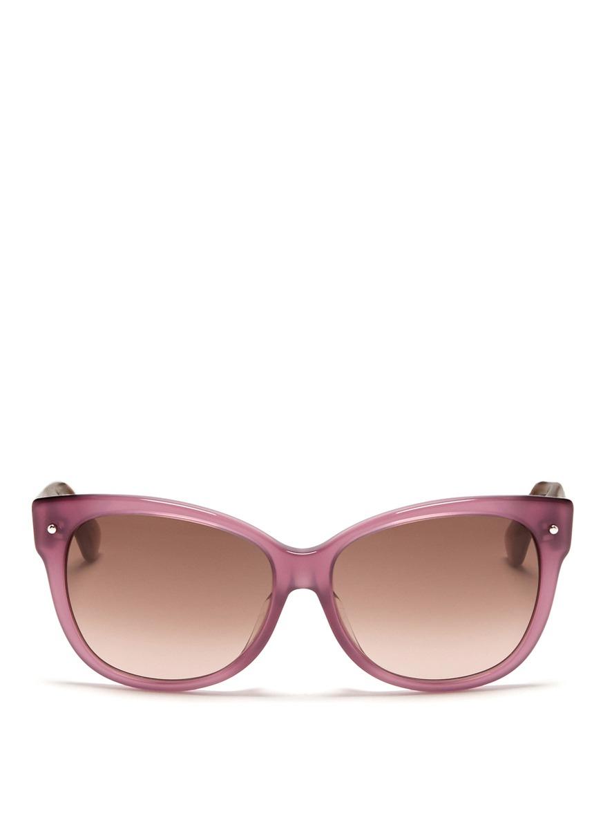 Dior Squared Cat Eye Plastic Frame Sunglasses in Purple Lyst