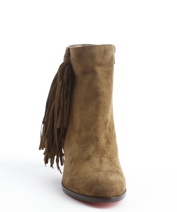 replica men shoes - christian louboutin jimmy netta fringe ankle boots, christian ...
