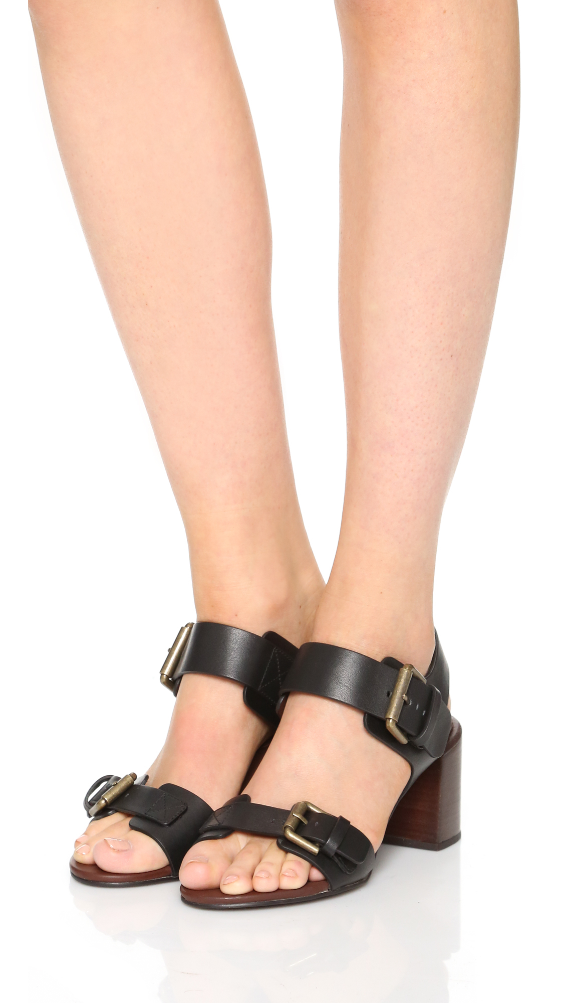 Romy City whipstitched leather sandals See By Chloé X9BL6UWwJ
