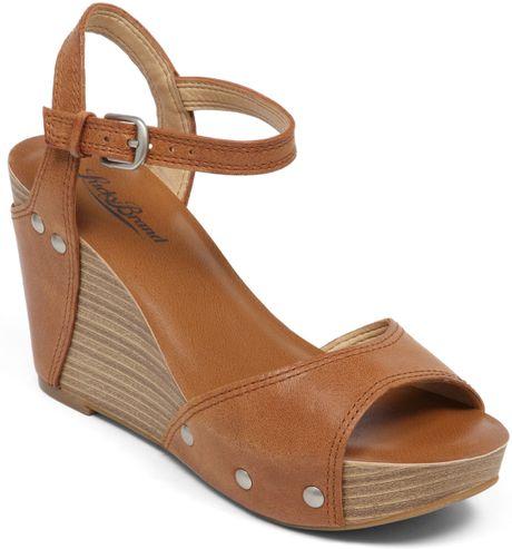 lucky brand marshaa platform wedge sandals in brown