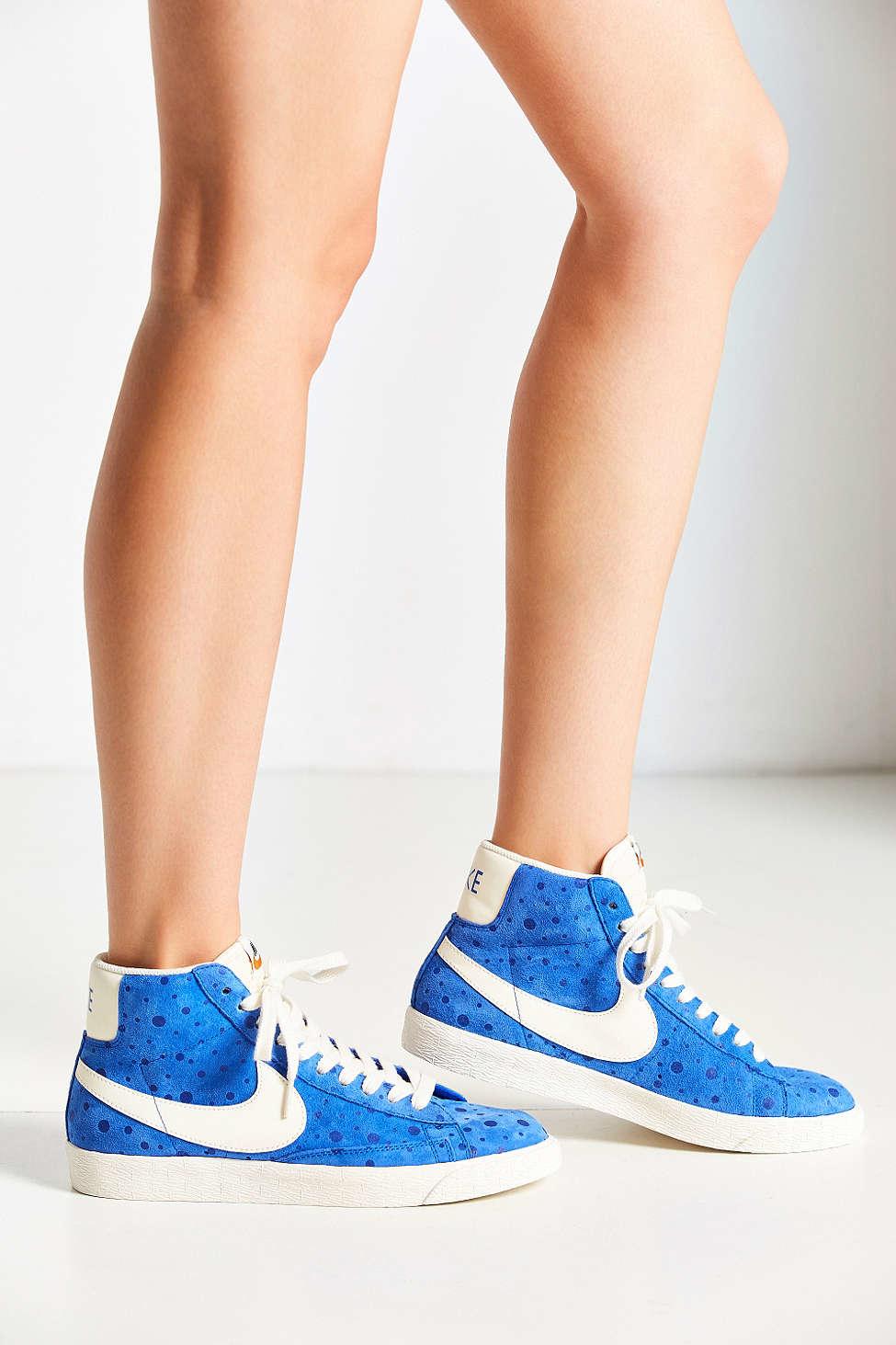 best sneakers 48c83 b058e Nike Women s Blazer Mid Suede Vintage Sneaker in Blue - Lyst
