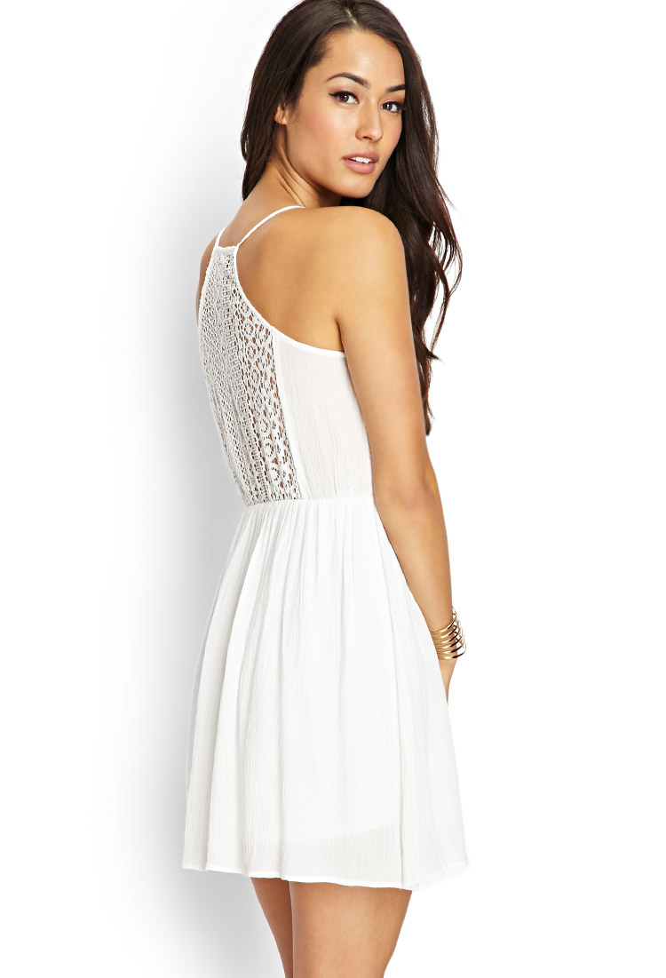 Lyst Forever 21 Contemporary Crochet Lace Cami Dress In
