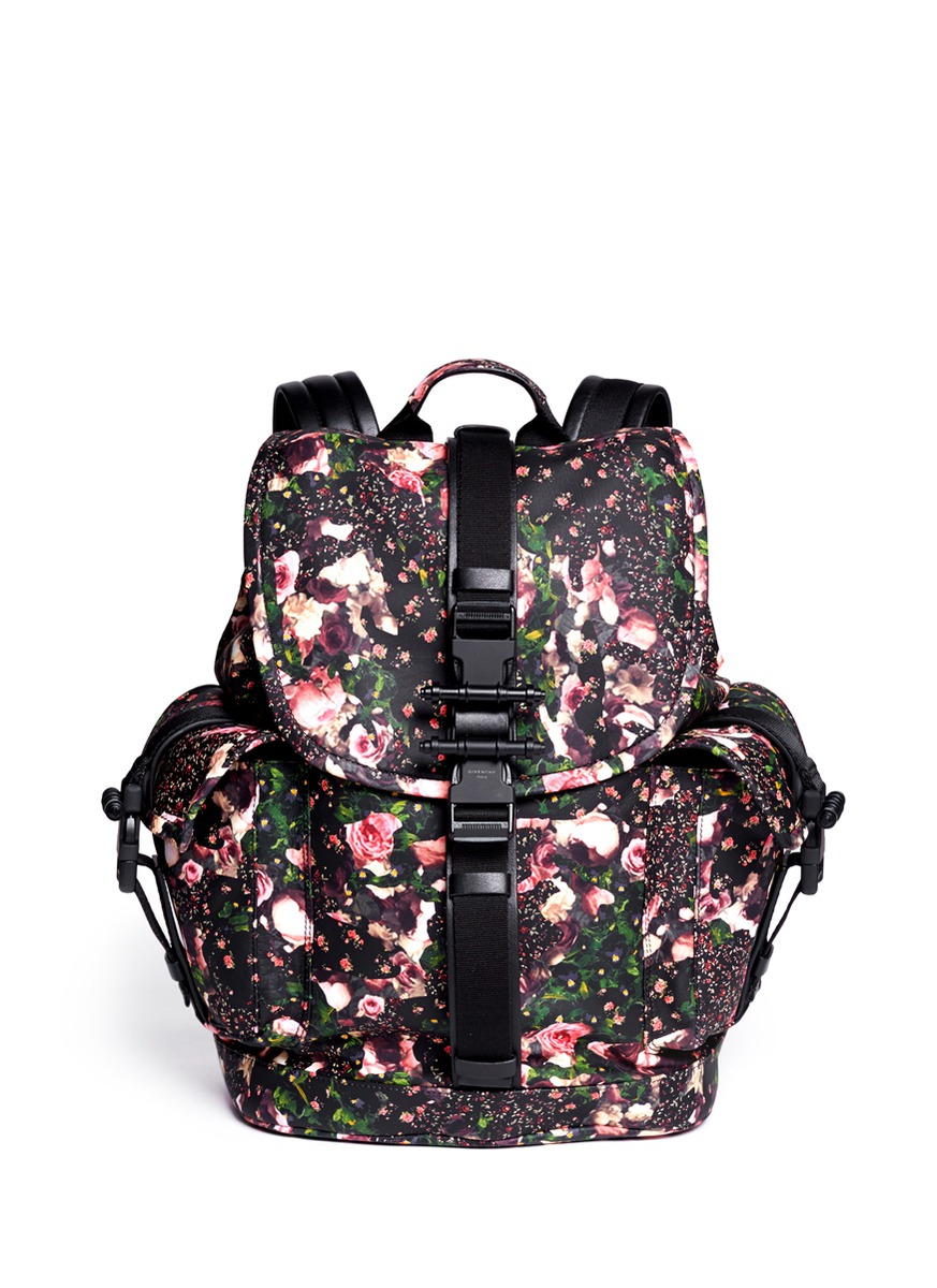 Givenchy Obsedia Floral Print Leather Backpack for Men | Lyst