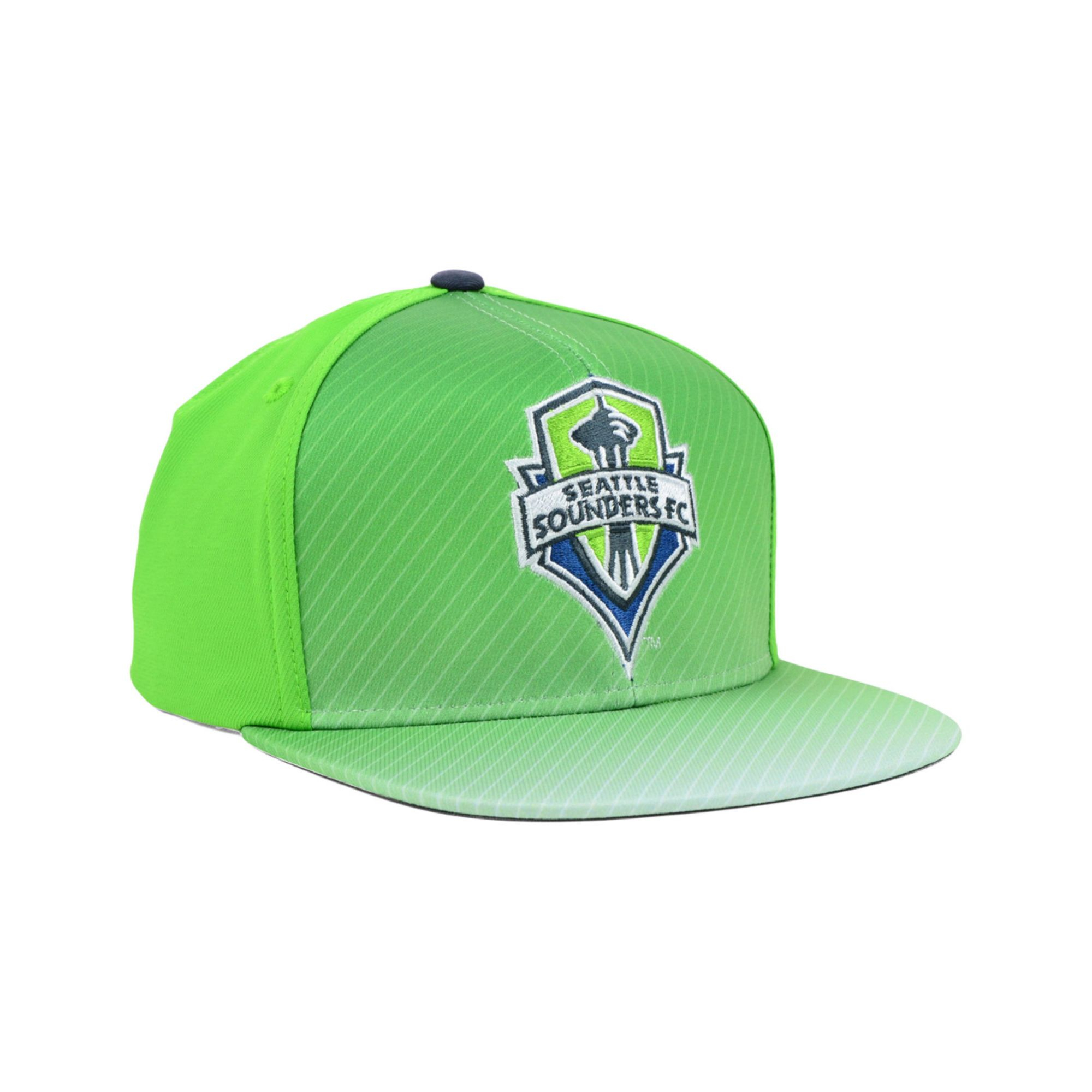 fa2aa8aac58 Lyst - Adidas Seattle Sounders Fc Mls Player Snapback Cap in Green ...