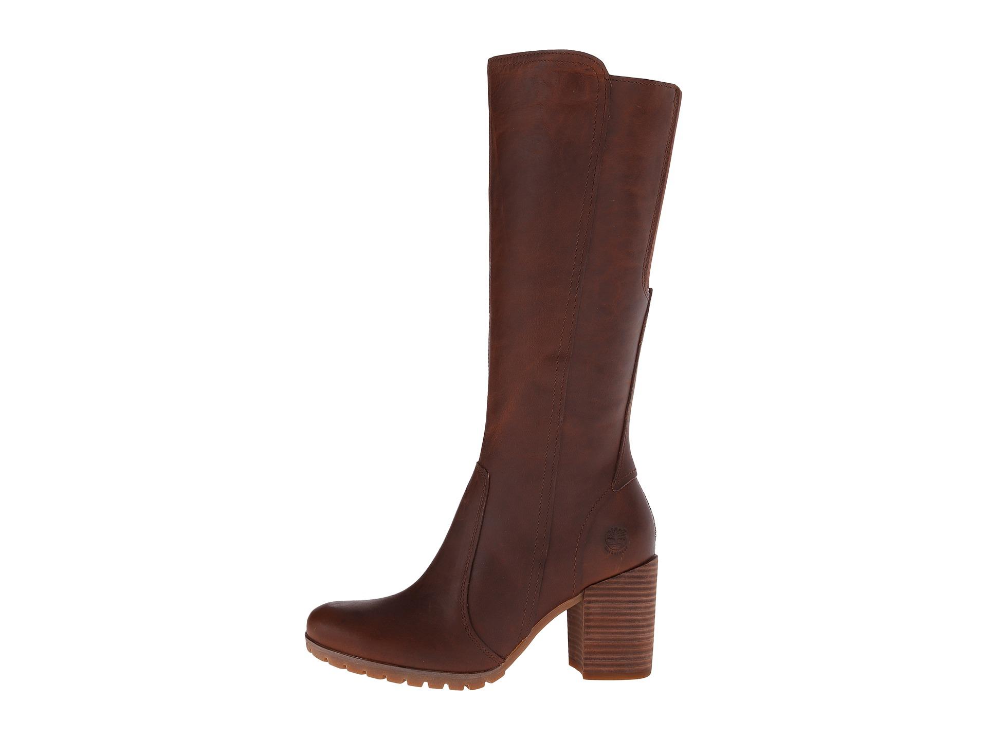 Timberland Boots Womens - Timberland Swazey Tall Waterproof Leather Wheat