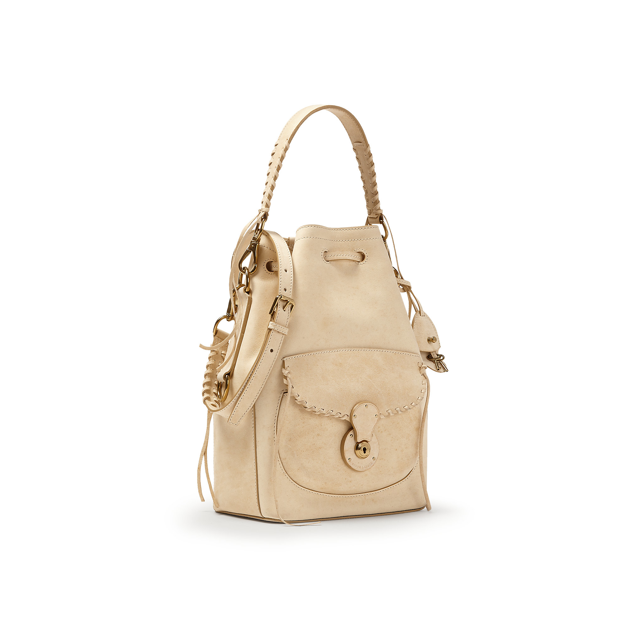 1d825050aca7 Lyst - Ralph Lauren Ricky Drawstring Bag in Natural
