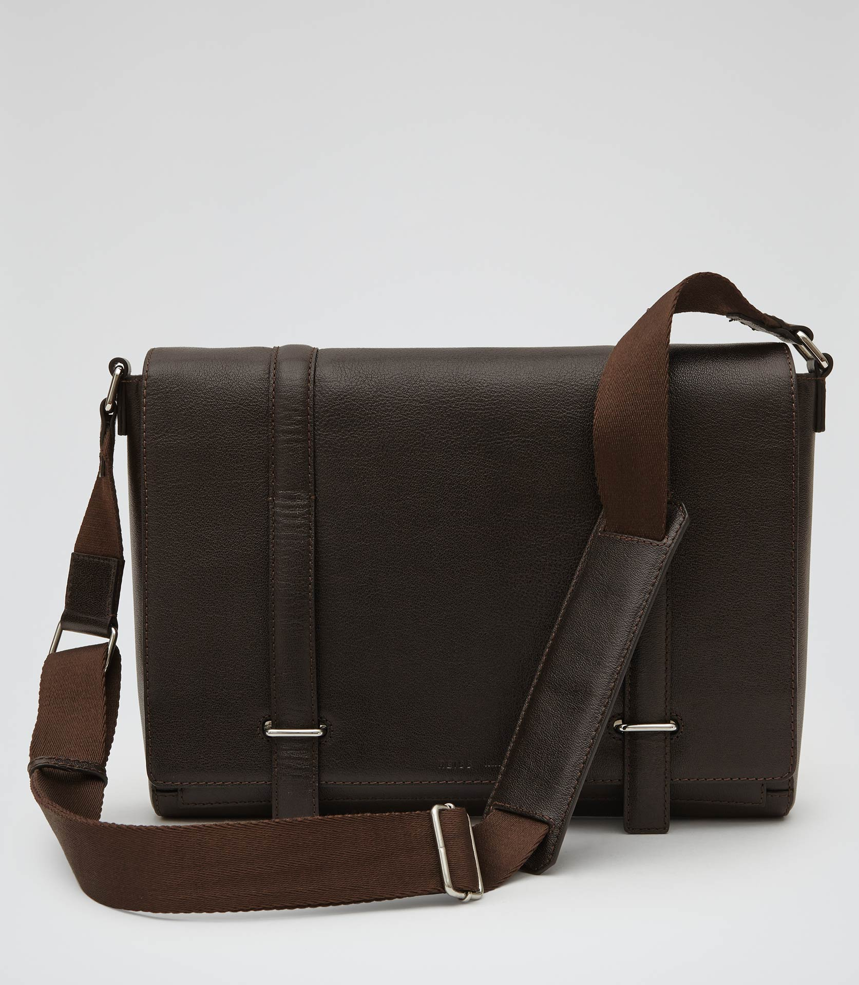 Reiss Salvatrucha Leather Messenger Bag in Brown for Men | Lyst