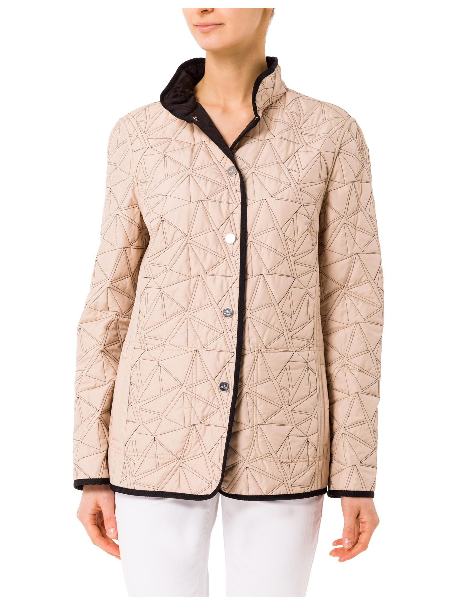 Basler Reversible Quilted Jacket In Black Lyst