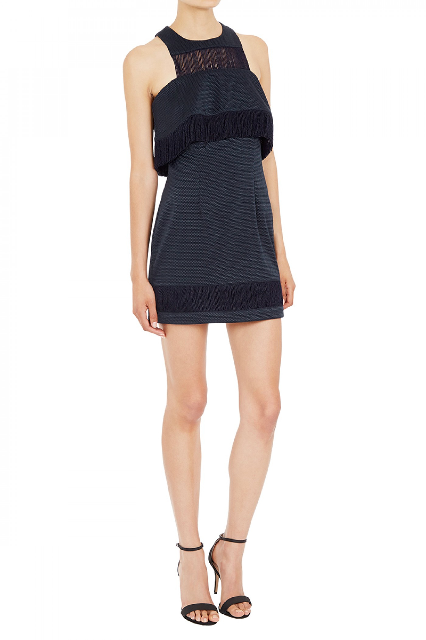 Sass and bide dress white navy