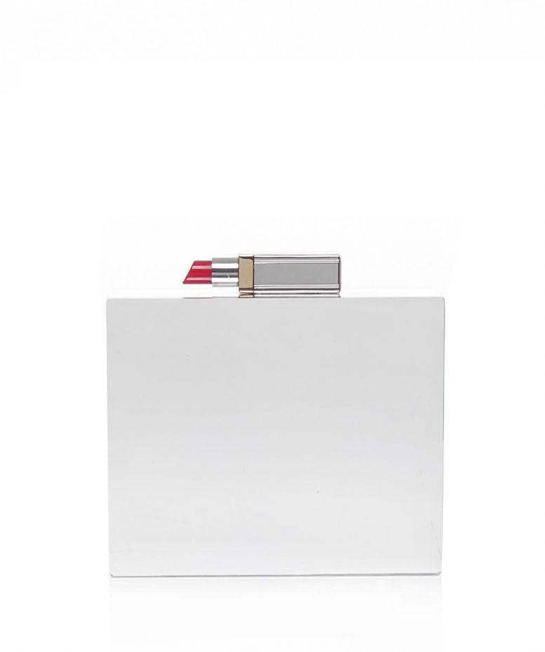 eeb4618af5 Lyst - Lulu Guinness Mirrored Perspex Chloe Clutch Bag in Metallic