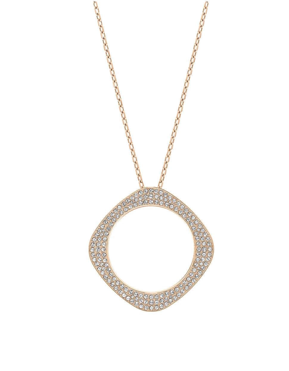 swarovski gold tone pvd pendant necklace in