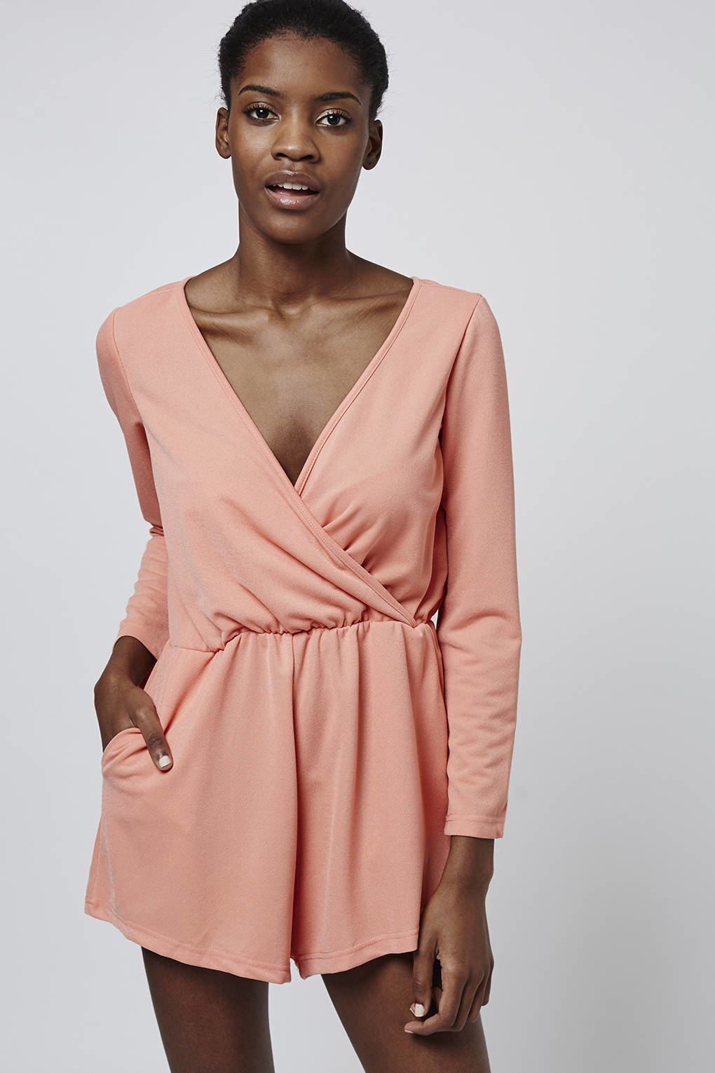 b9dabe8288 Glamorous Wrap Front Playsuit By in Pink - Lyst