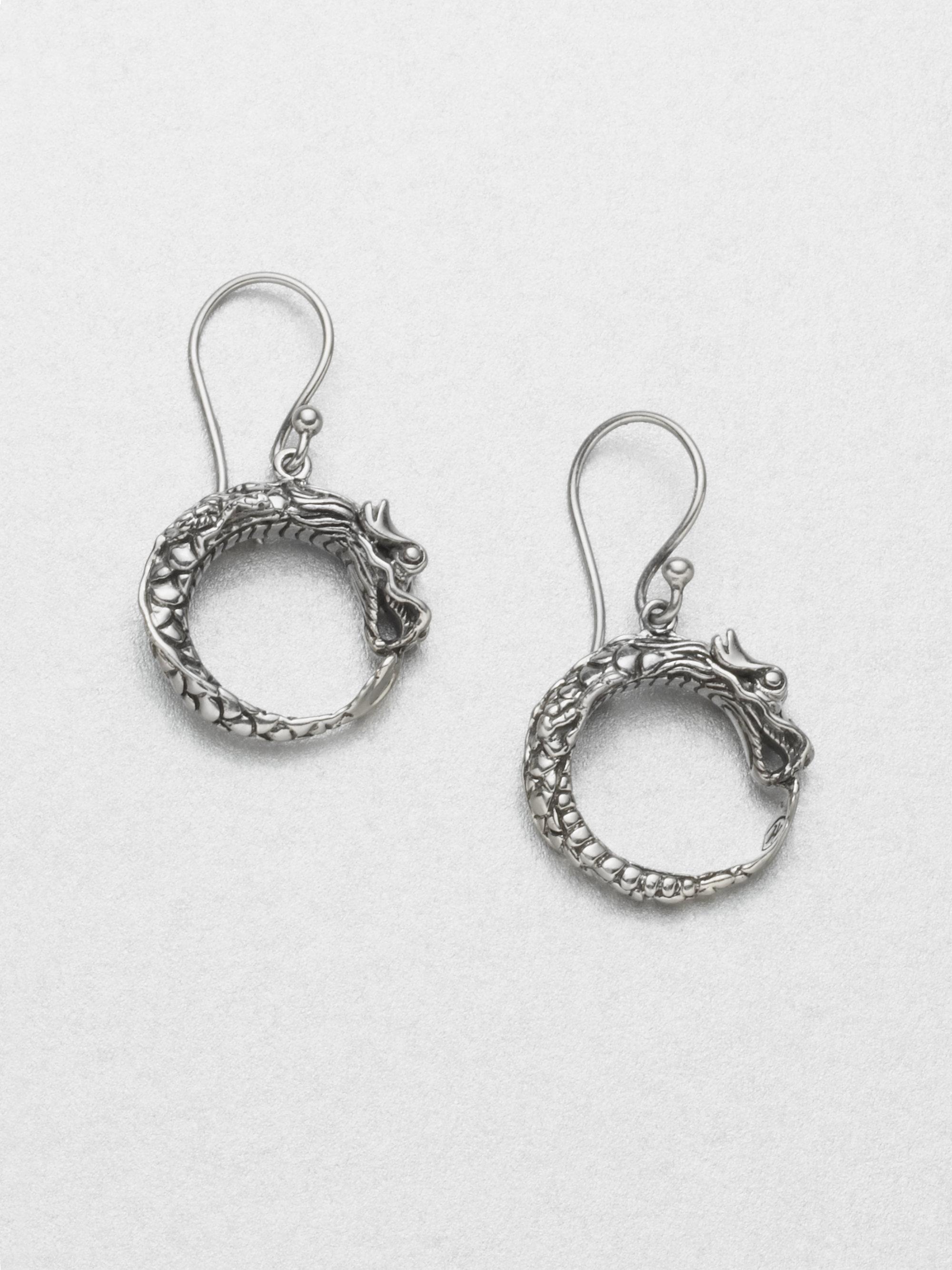 Sterling Silver Dragon Earrings qnmGMNMa9