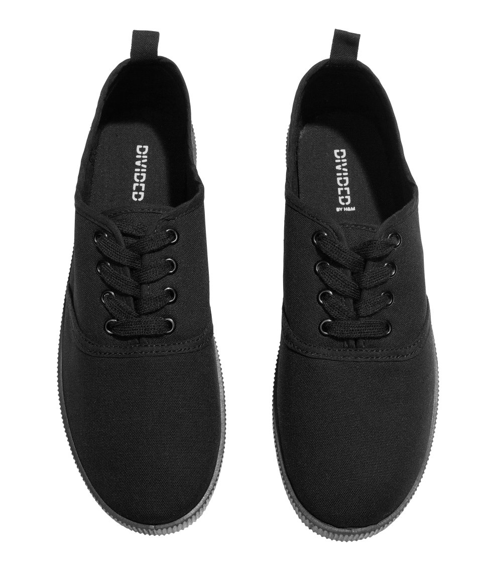 h m canvas sneakers in black lyst