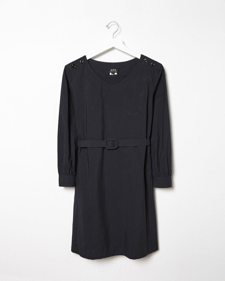 a p c robe masha in blue lyst. Black Bedroom Furniture Sets. Home Design Ideas