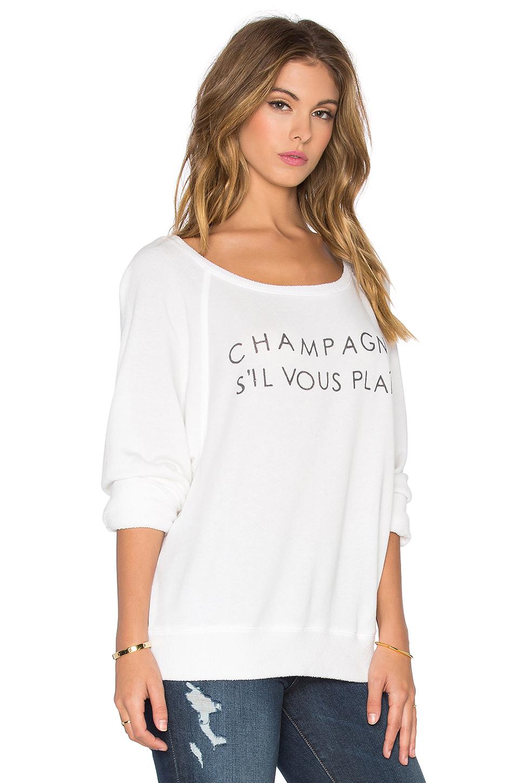 daydreamer champagne s 39 il vous plait sweatshirt in white lyst. Black Bedroom Furniture Sets. Home Design Ideas