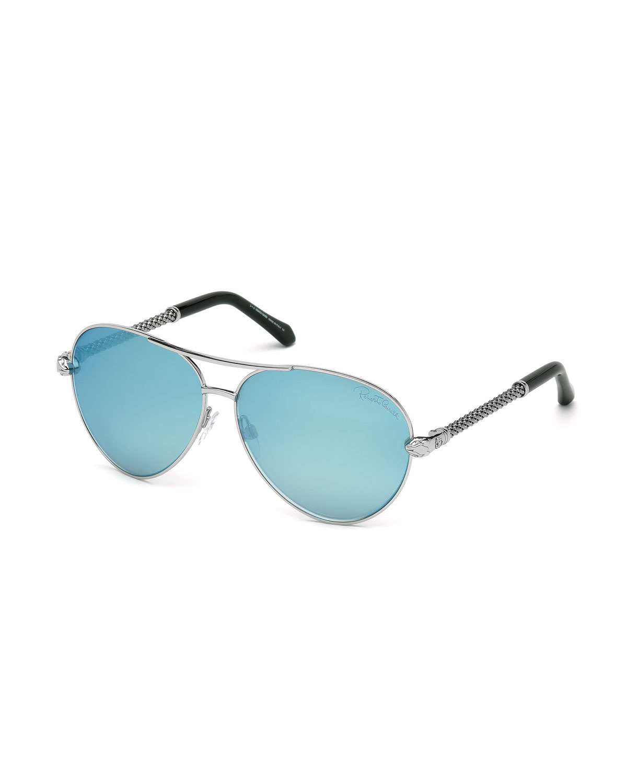 e84dbfe67 Lyst - Roberto Cavalli Mirrored Aviator Sunglasses in Pink for Men