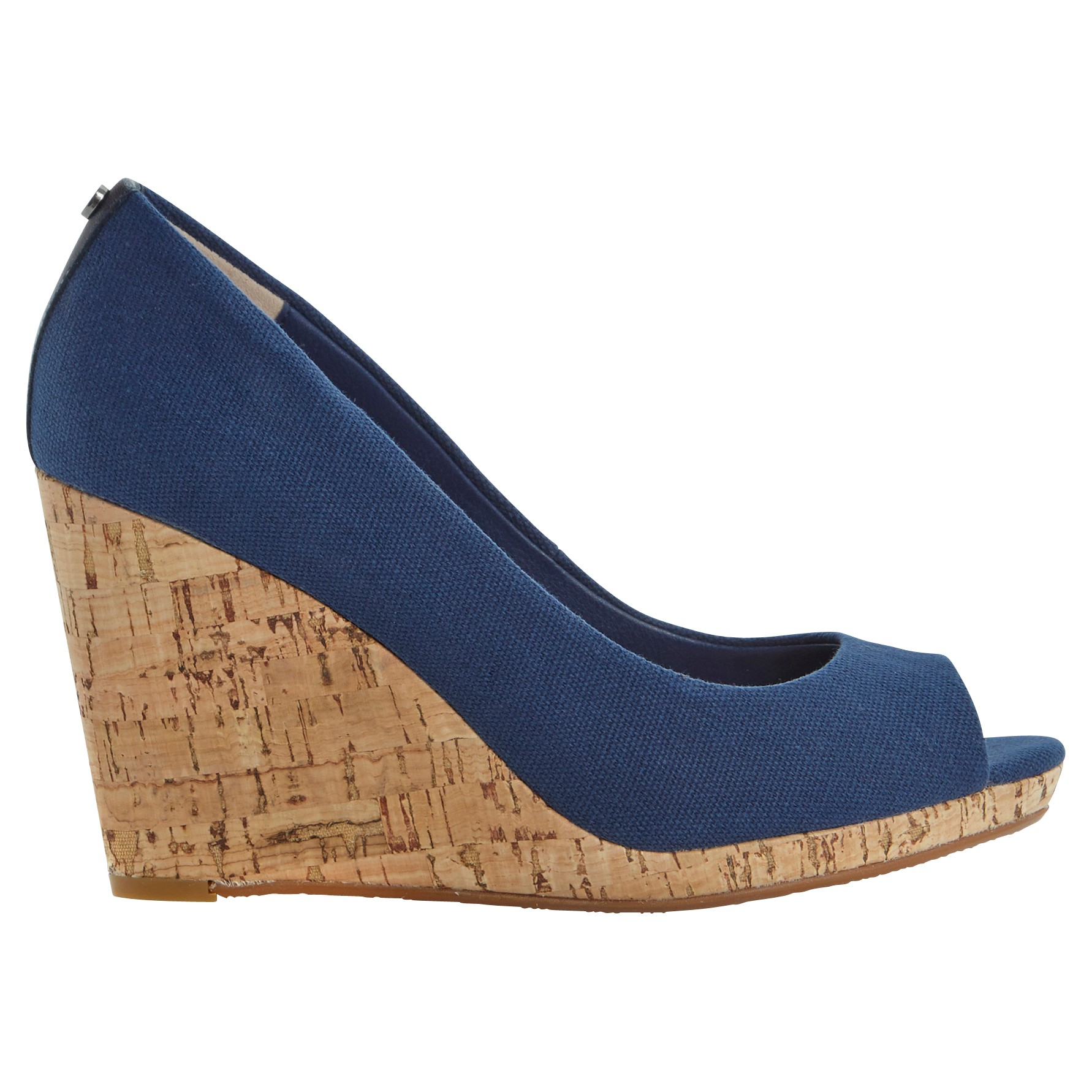 Womens Wedge Shoes Navy