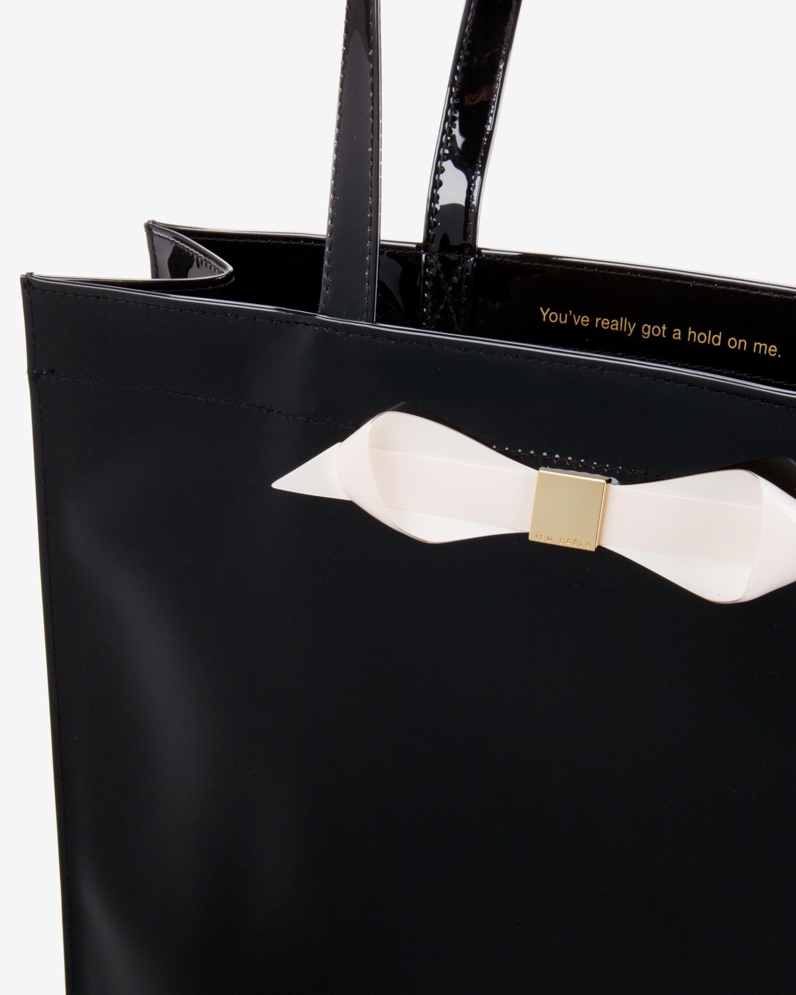 2165663b298 Ted Baker Large Color Block Shopper Bag in Black - Lyst
