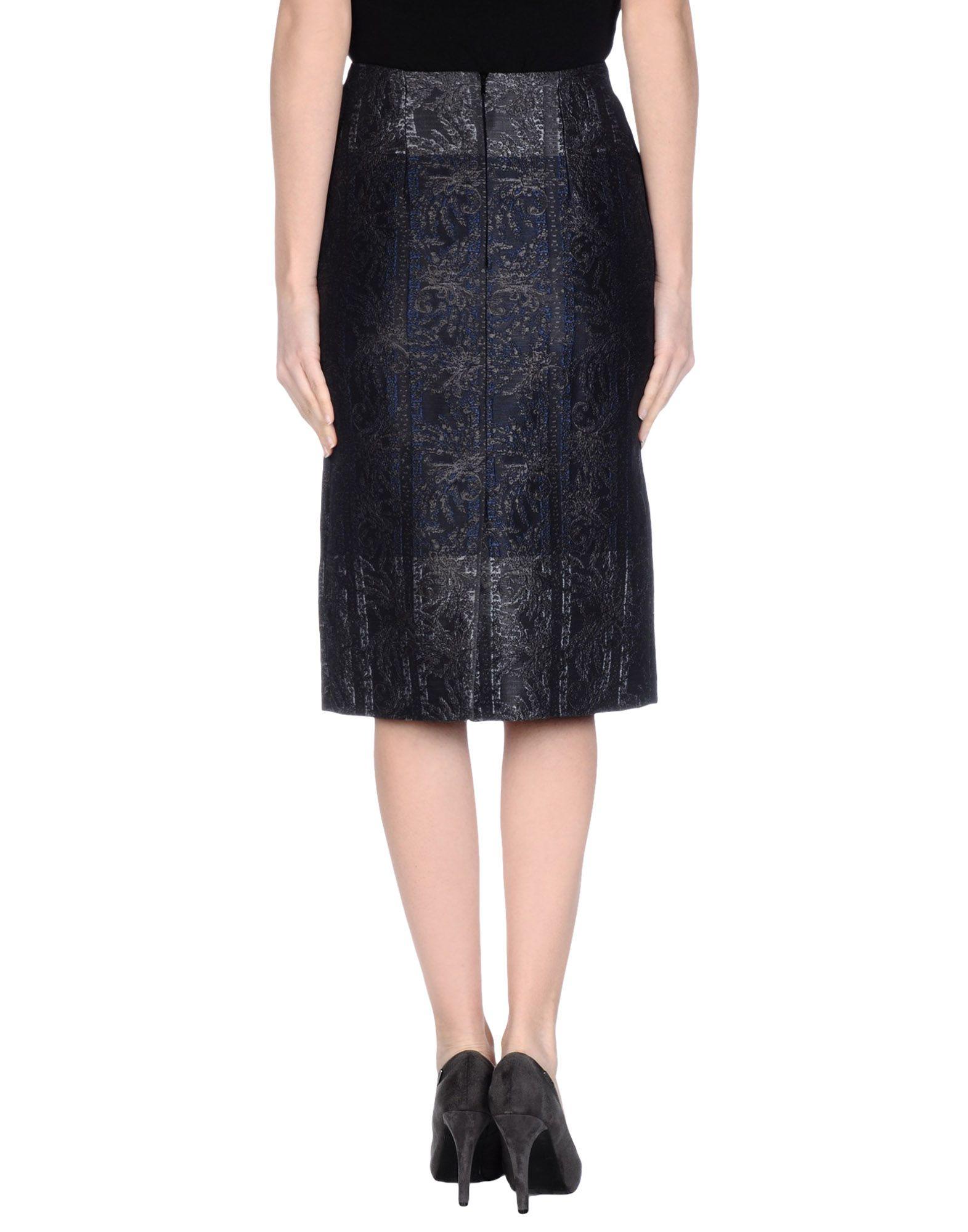 Lyst Michael Van Der Ham 3 4 Length Skirt In Blue