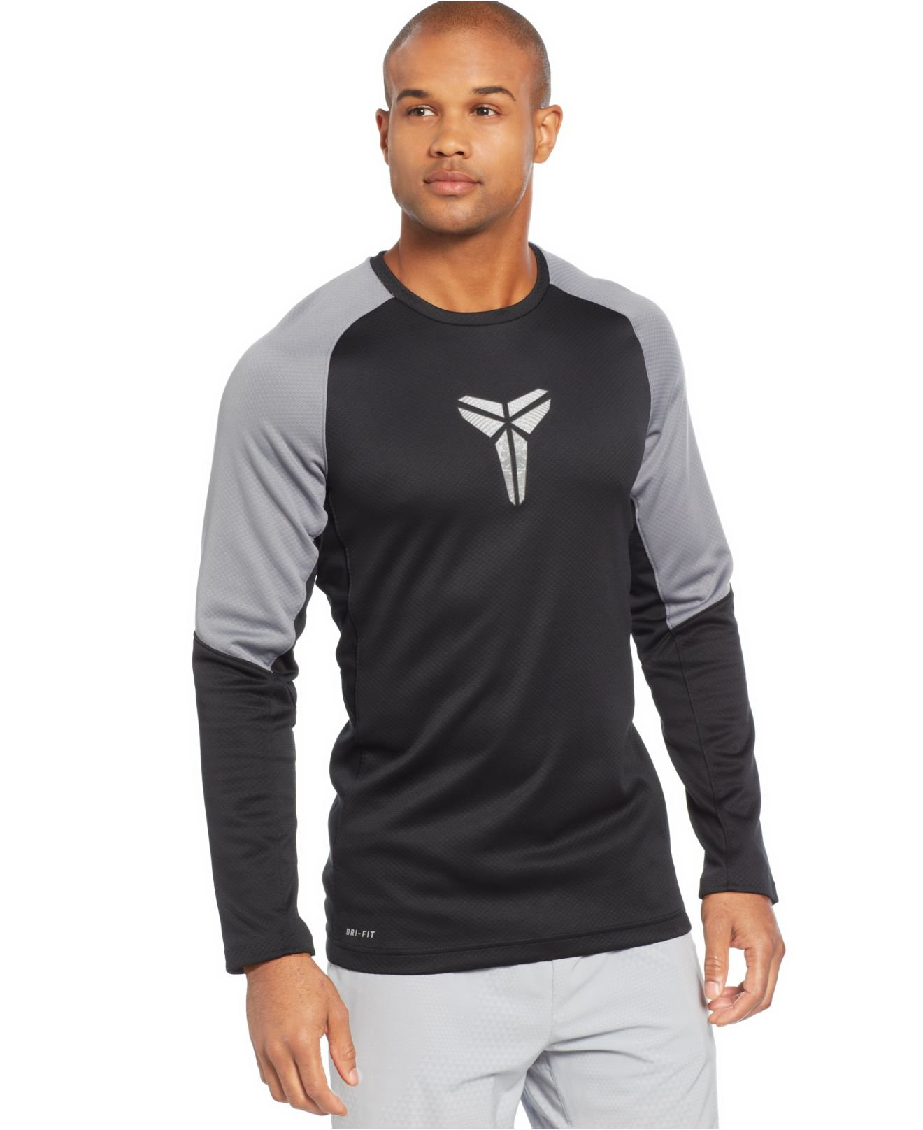Lyst - Nike Kobe Fearless Long-sleeve Dri-fit T-shirt in Gray for Men cc4322f0f
