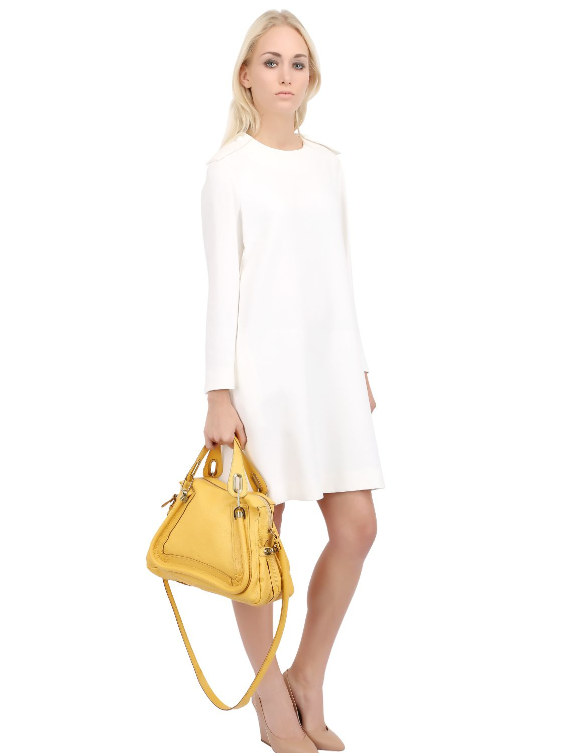 Chlo�� Medium Paraty Grained Leather Bag in Yellow (SUNRAY)   Lyst