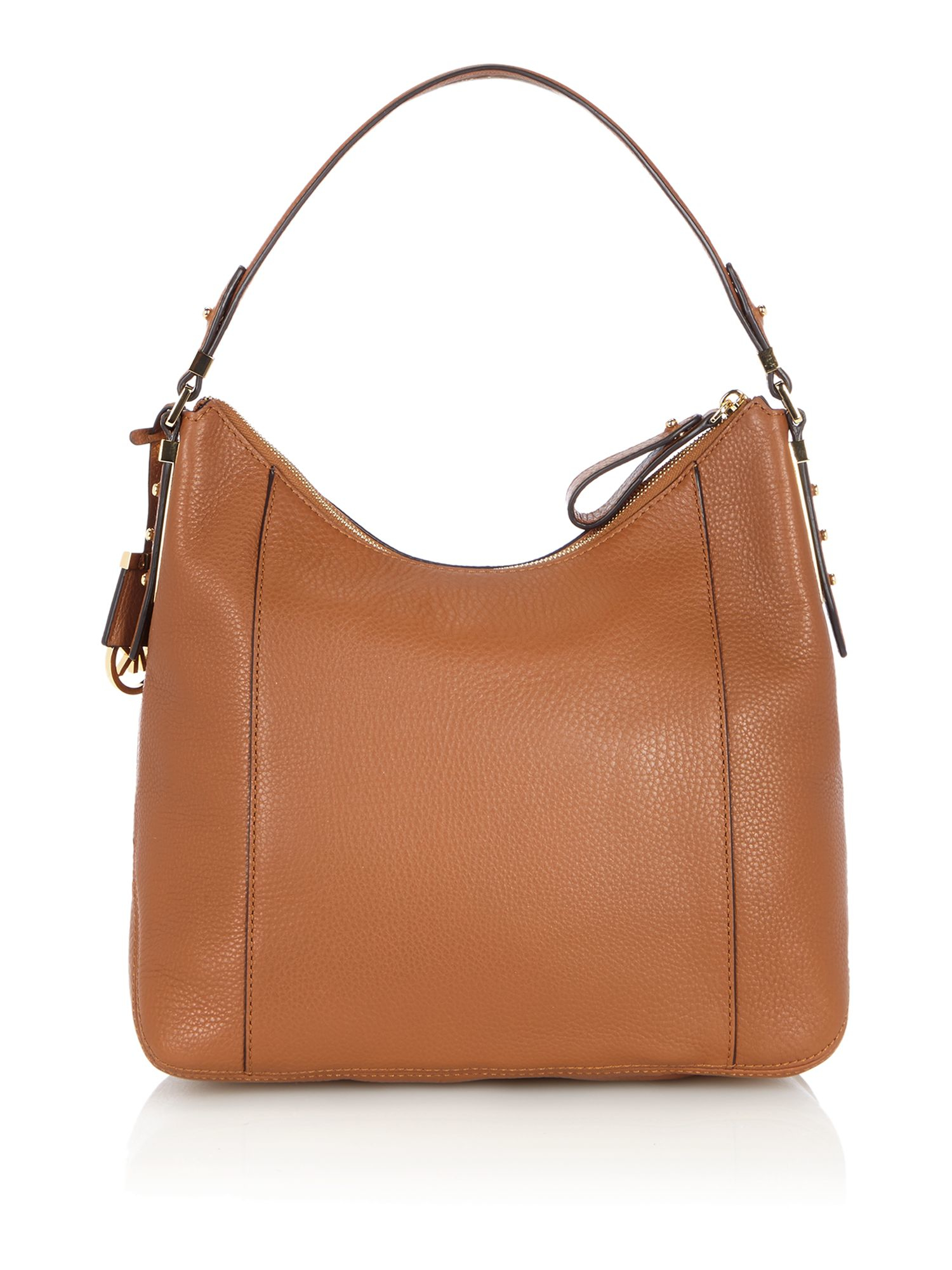michael kors bowery tan large hobo bag in brown tan lyst. Black Bedroom Furniture Sets. Home Design Ideas