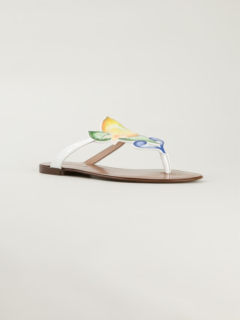 70167347a7ec Lyst - Dolce   Gabbana Lemon Sandals in Yellow
