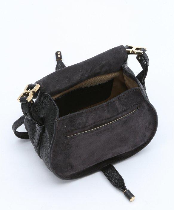 chloe white leather handbag - Chlo�� Black Calfskin \u0026#39;marcie Nude\u0026#39; Small Saddle Bag in Black | Lyst