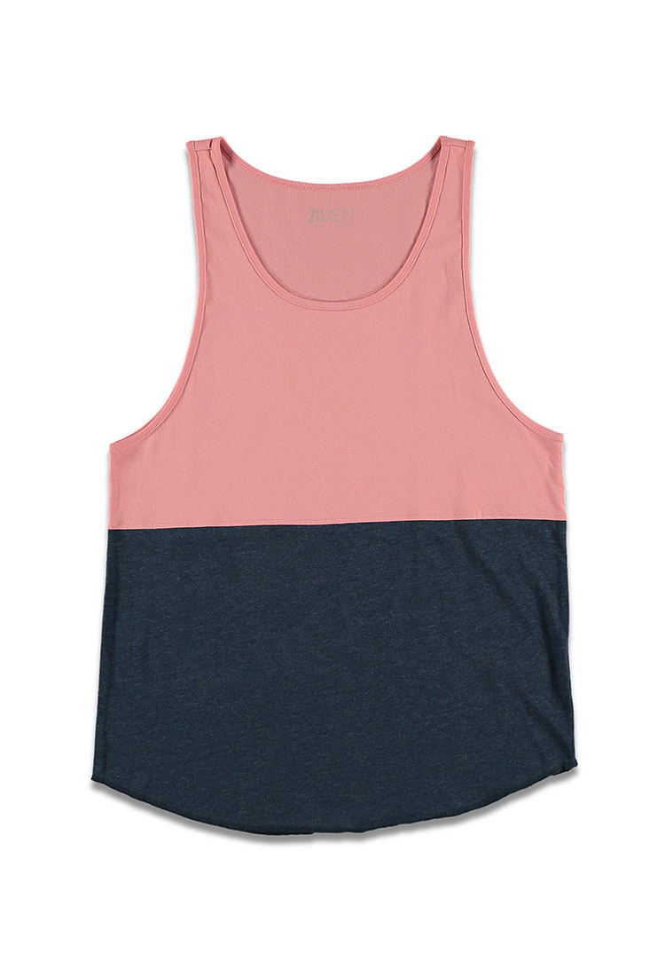 3e40edb62d95c2 Lyst - Forever 21 Heathered Colorblock Tank Top in Blue