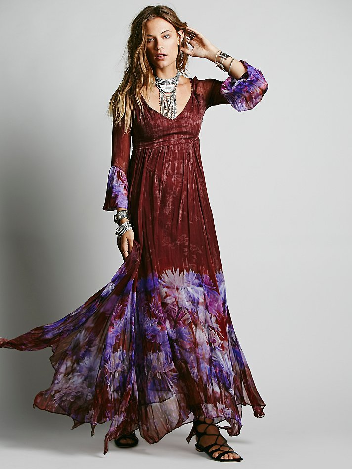 Lyst Free People Womens Dazed Dream Maxi Dress In Red