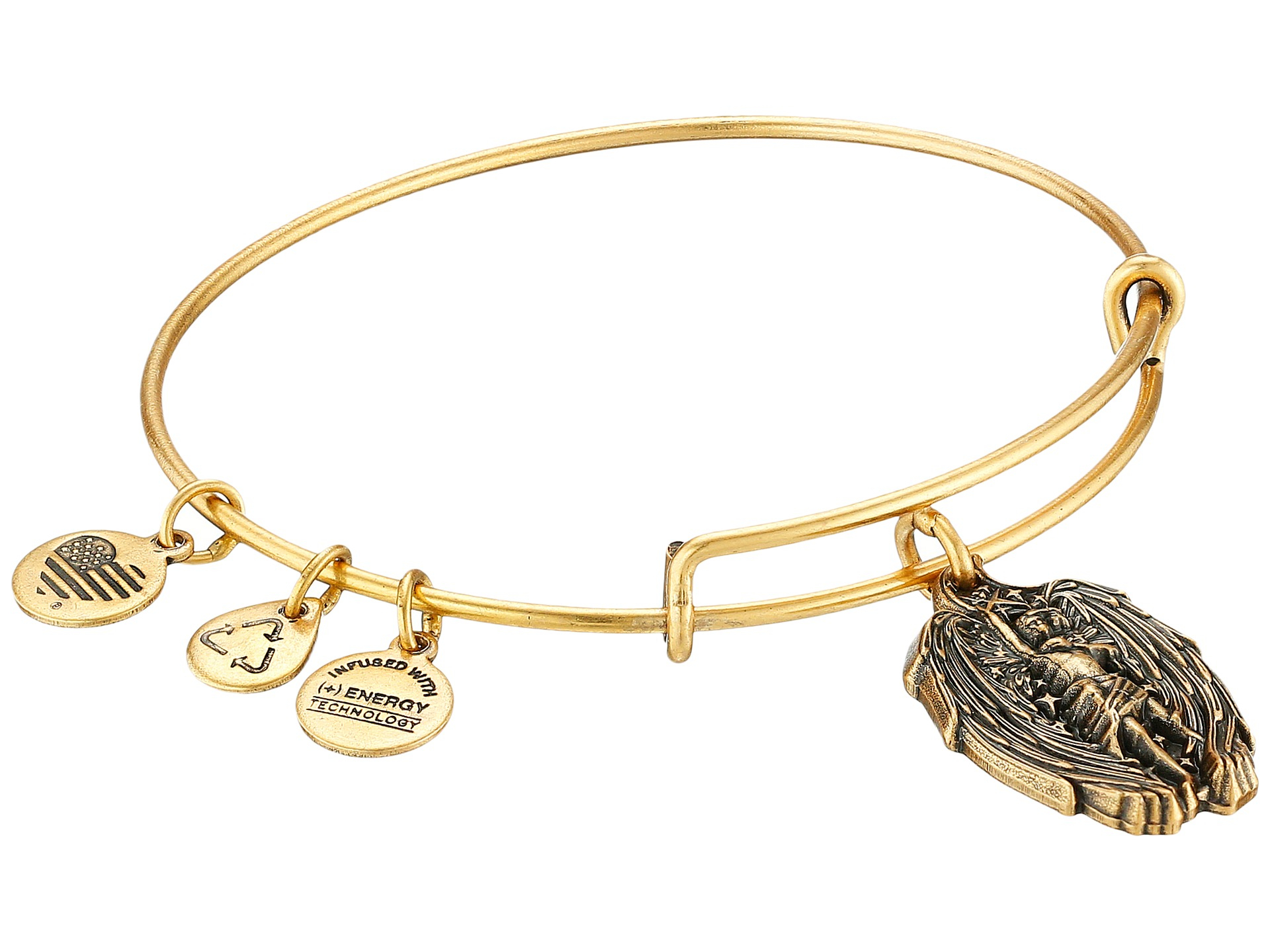 alex and ani guardian of strength charm bangle in gold