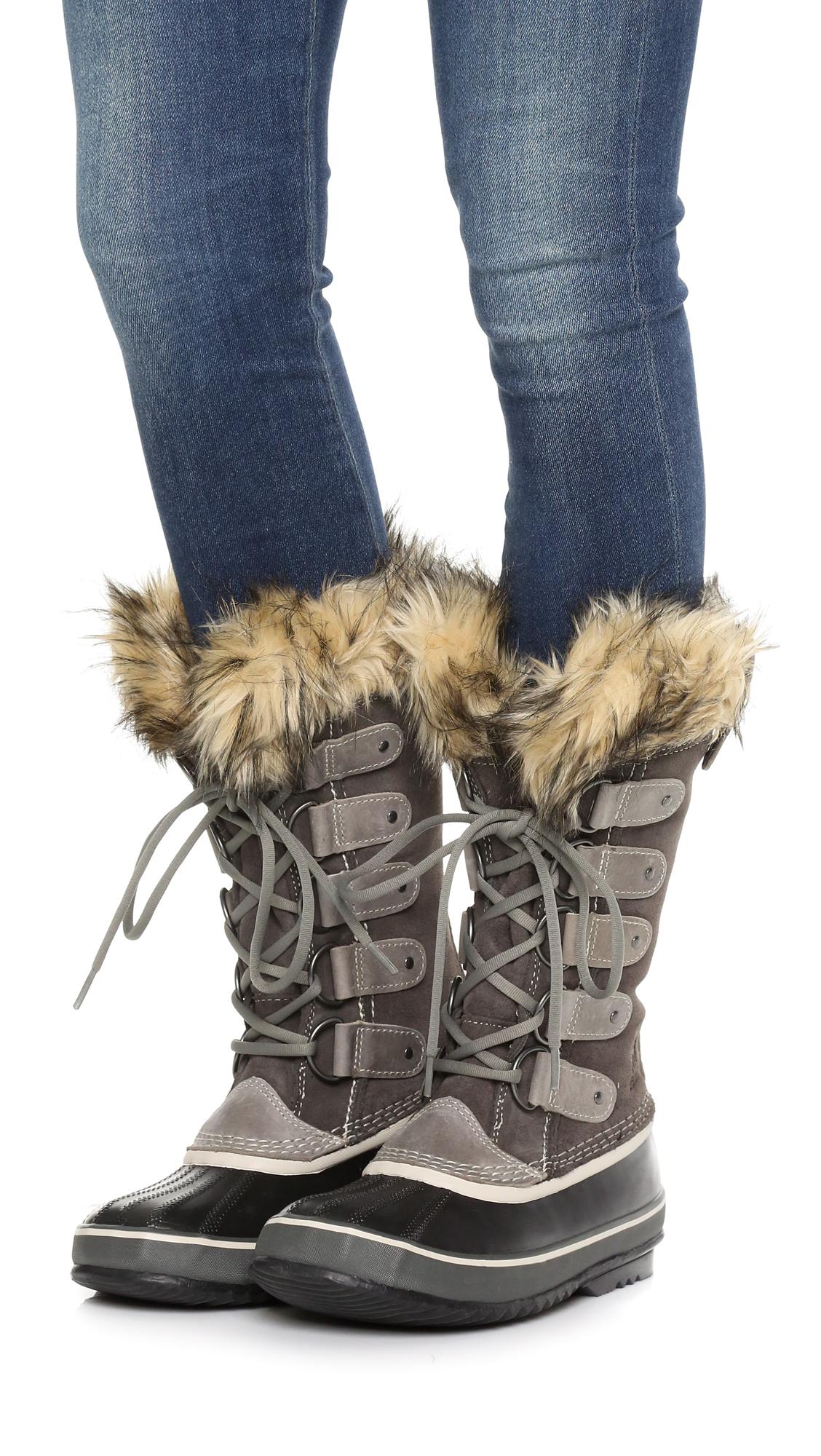 sorel joan of arctic boots in gray lyst. Black Bedroom Furniture Sets. Home Design Ideas