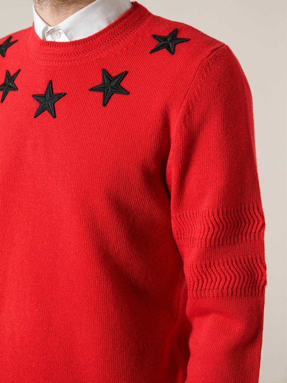 Givenchy Star Sweater in Red for Men | Lyst
