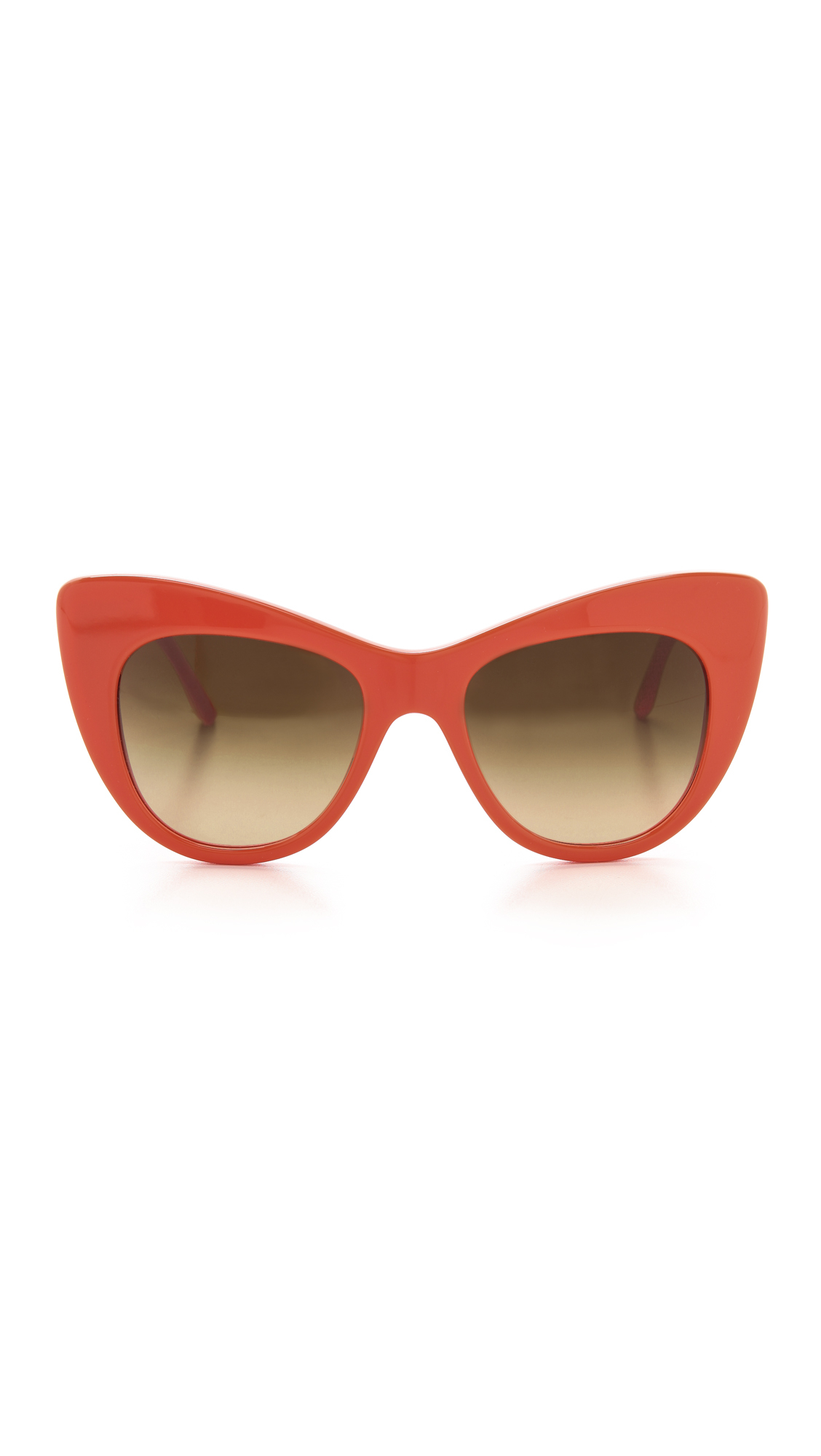 416573d4c3a Lyst - Stella McCartney Cat Eye Sunglasses Bright Orangered in Red