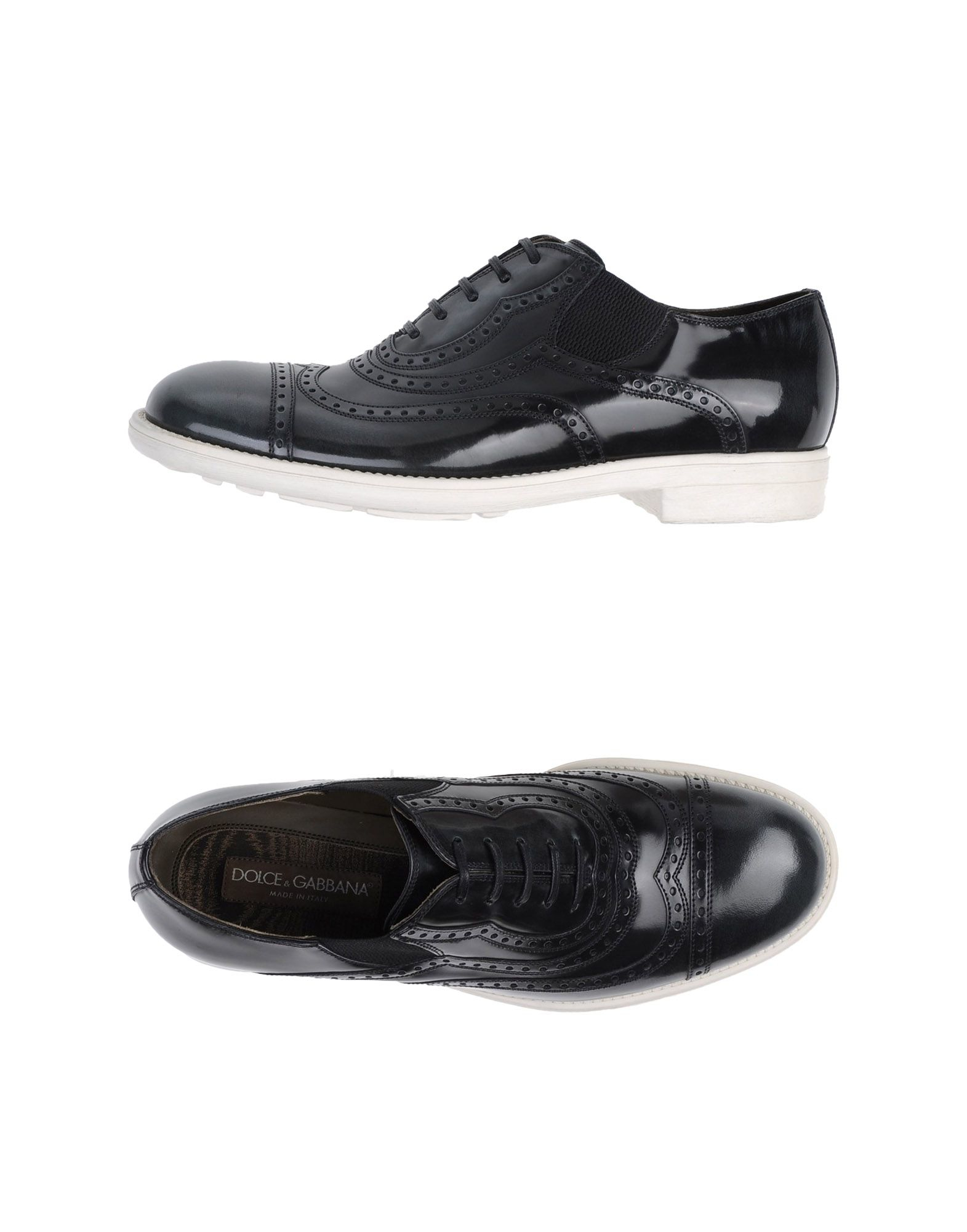 dolce gabbana lace up shoes in black for lyst