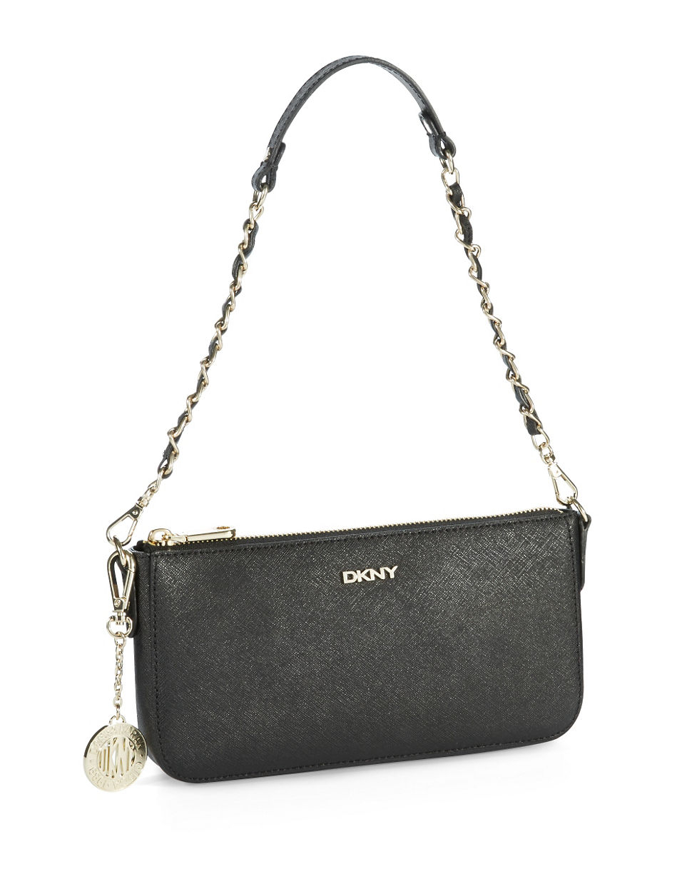 dkny zip top crossbody bag in black lyst
