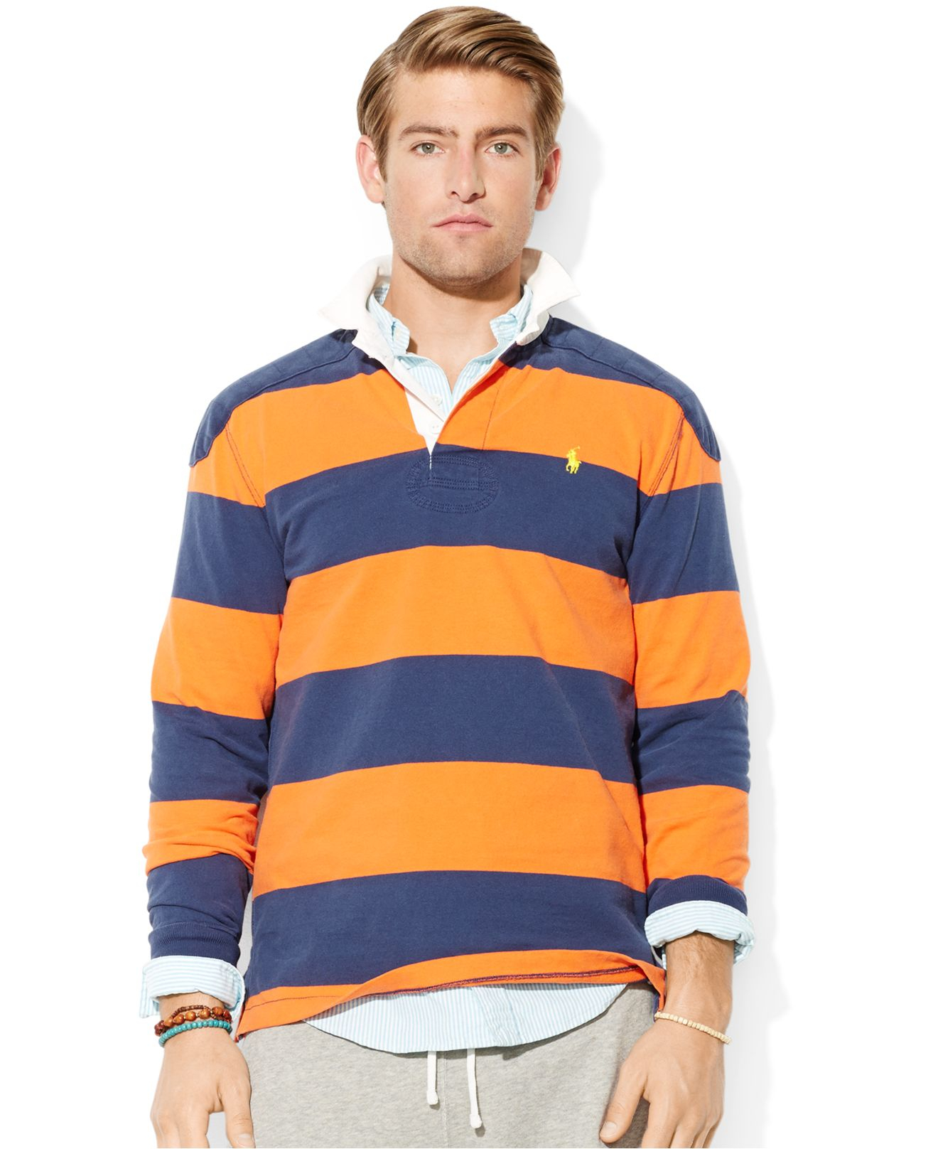 649762d9accf3 Gallery. Gallery. Lyst Polo Ralph Lauren Striped Rugby Shirt ...
