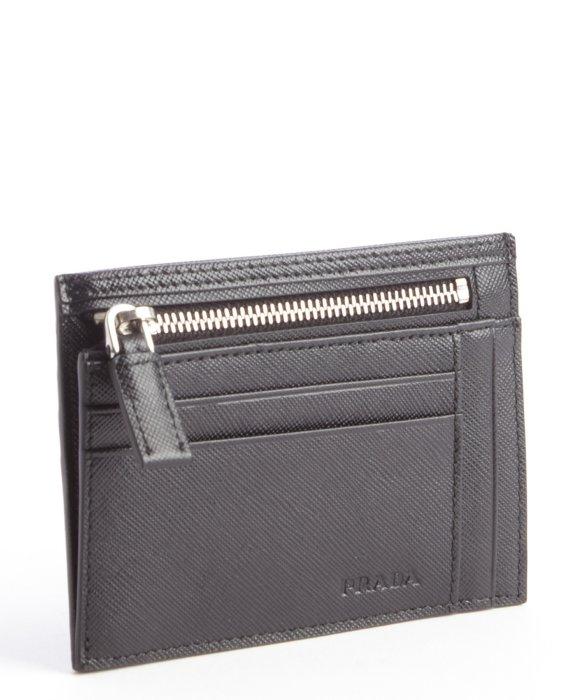 real prada bag vs fake - Prada Black Leather Zip Pouch Card Holder in Black for Men | Lyst
