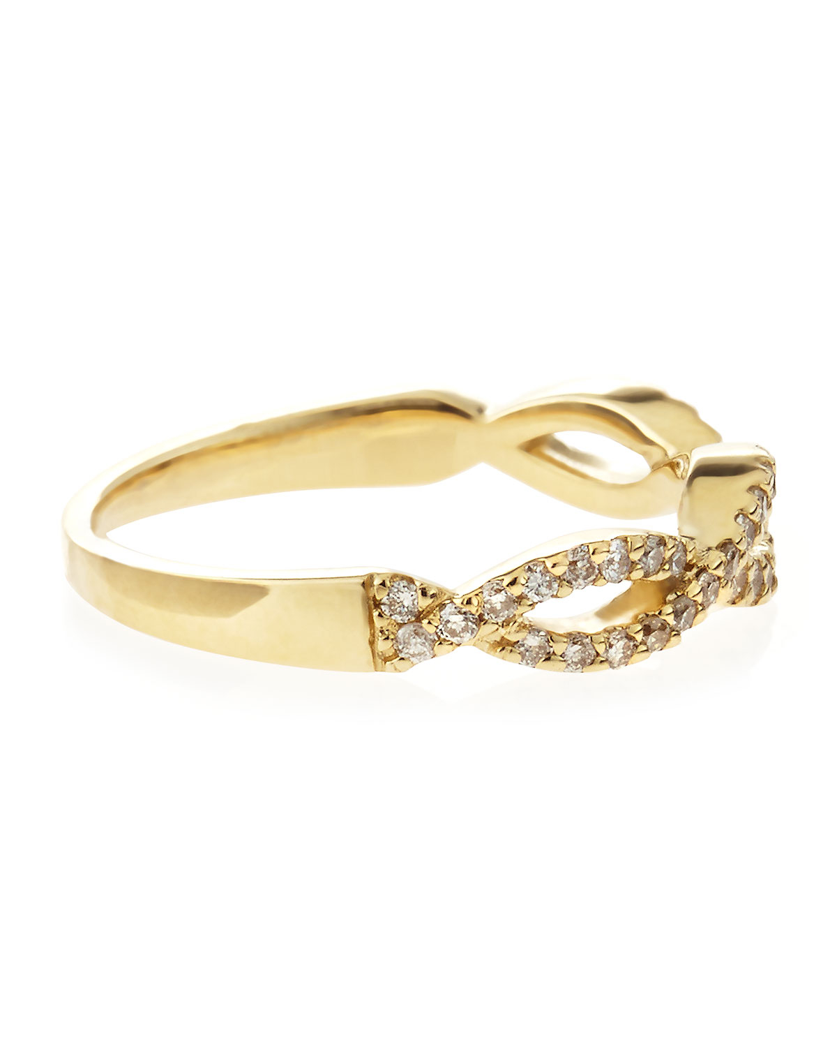 Lyst - Kc Designs 14k Diamond Pave Stackable Twist Ring Yellow ...