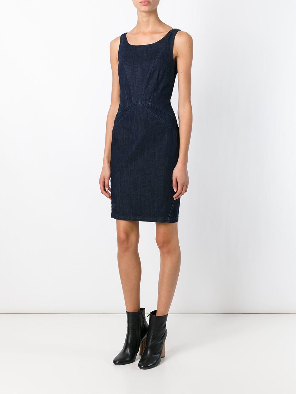 e823f70ae078 Armani Jeans Denim Bodycon Dress in Blue - Lyst