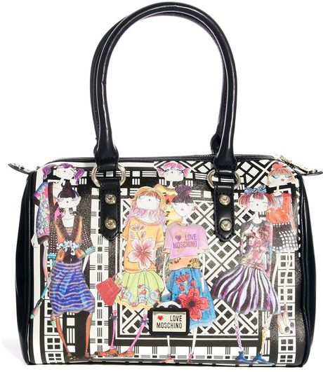 love moschino charming girls bowling bag in black lyst. Black Bedroom Furniture Sets. Home Design Ideas