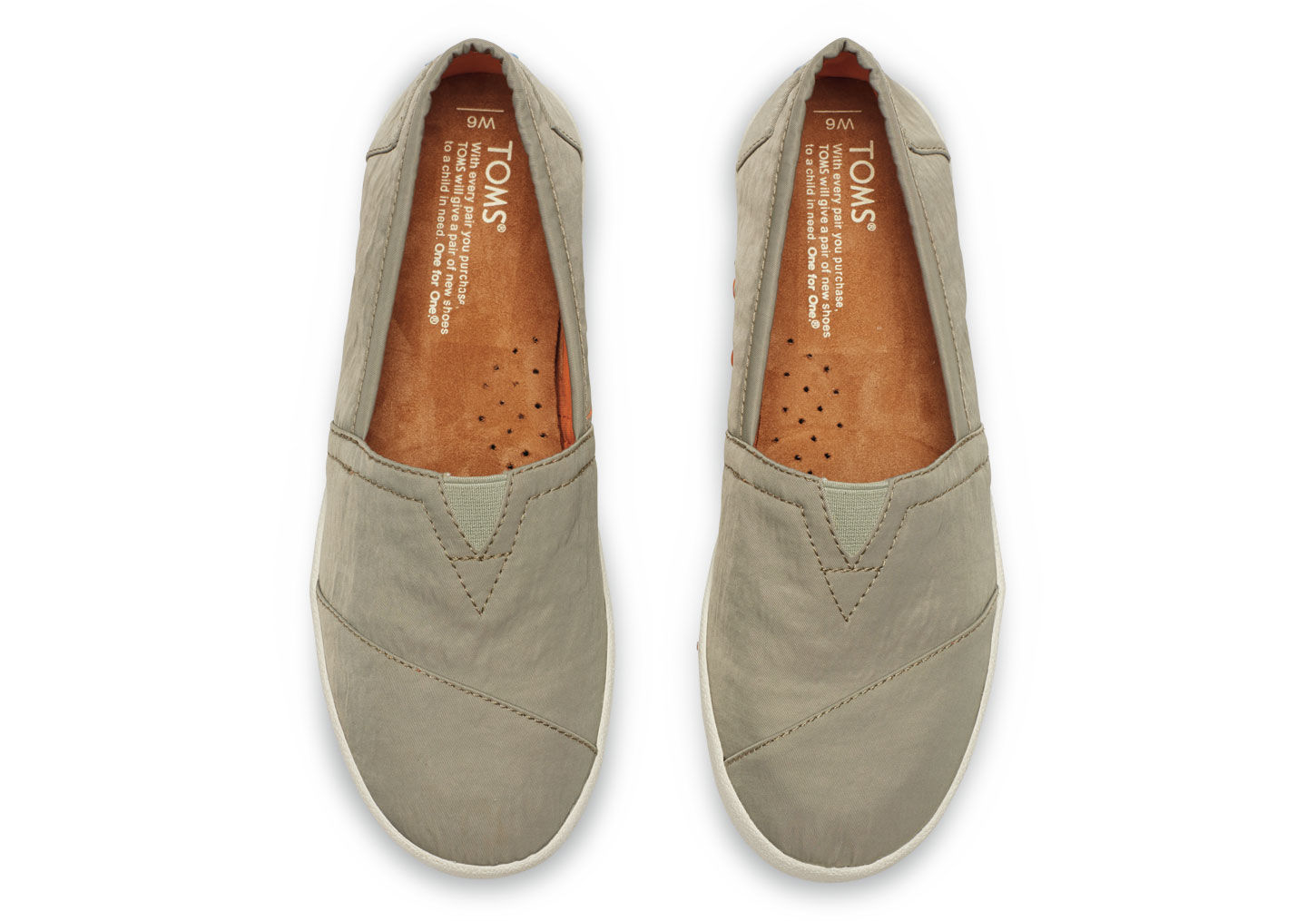 16933d7dc9f Lyst - TOMS Agate Nylon Women s Avalon Slip-ons in Gray