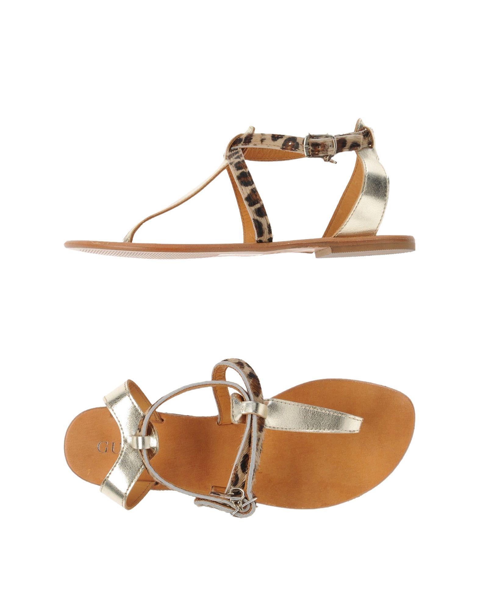 248e6efcca0 Guess Thong Sandal in Metallic - Lyst