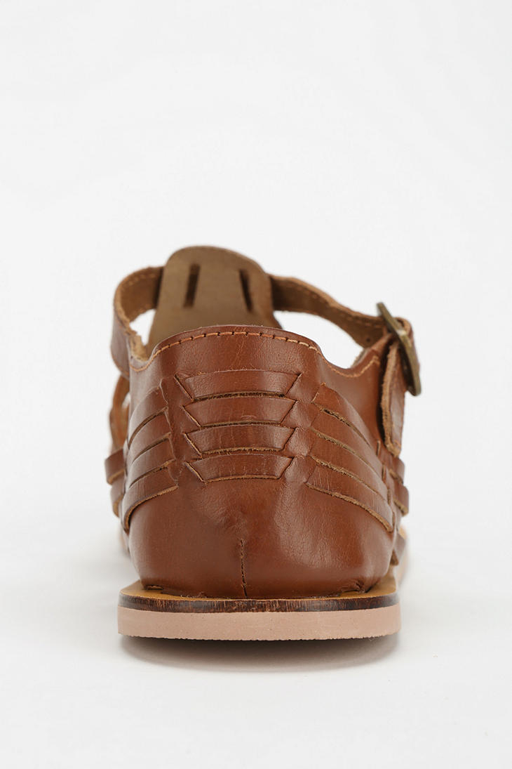 9bd30d98b19d Lyst - Urban Outfitters Ecote Moni Buckled Huarache Sandal in Brown