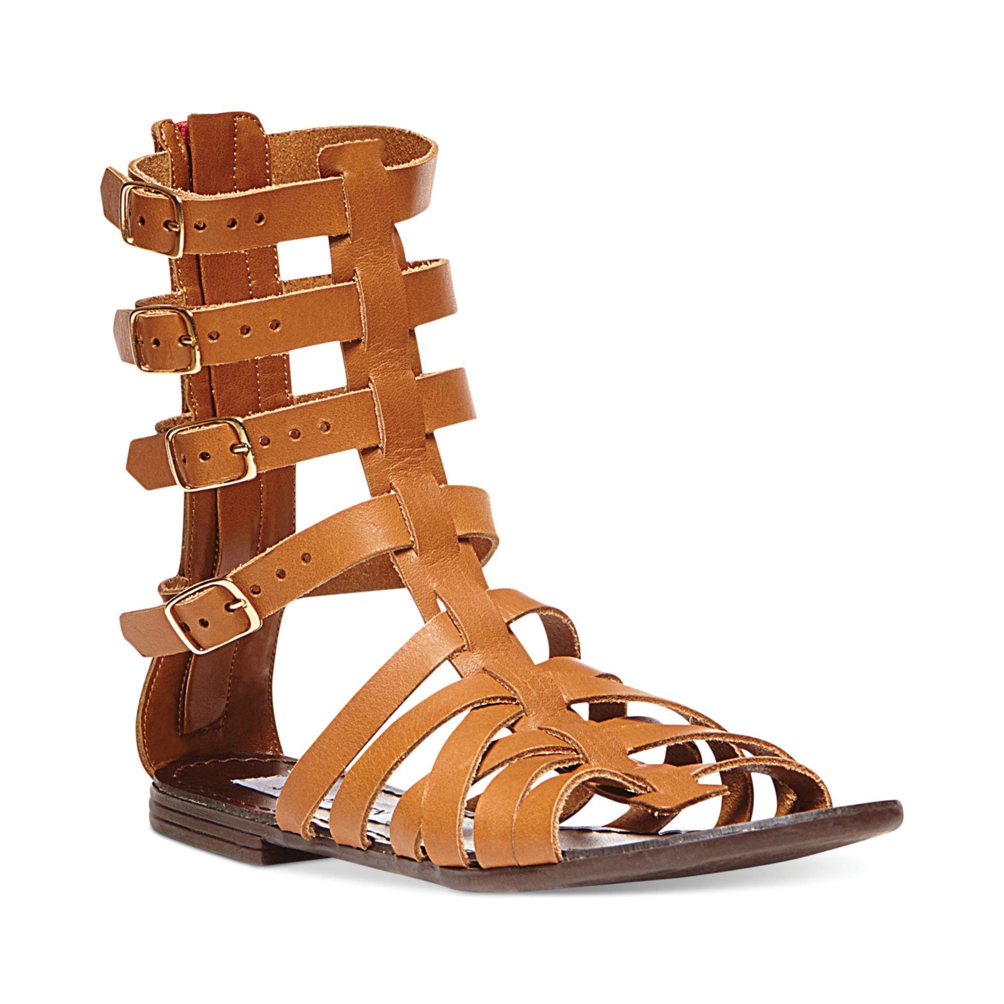 Steve Madden Womens Ceaserr Flat Gladiator Sandals In
