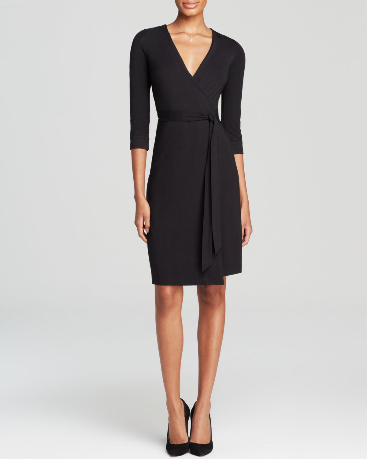 Lyst diane von furstenberg new julian two wrap dress in for Diane von furstenberg clothes