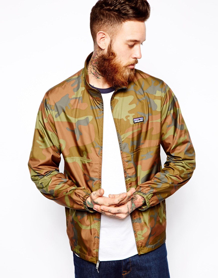 Lyst Patagonia Camo Wind Jacket In Natural For Men