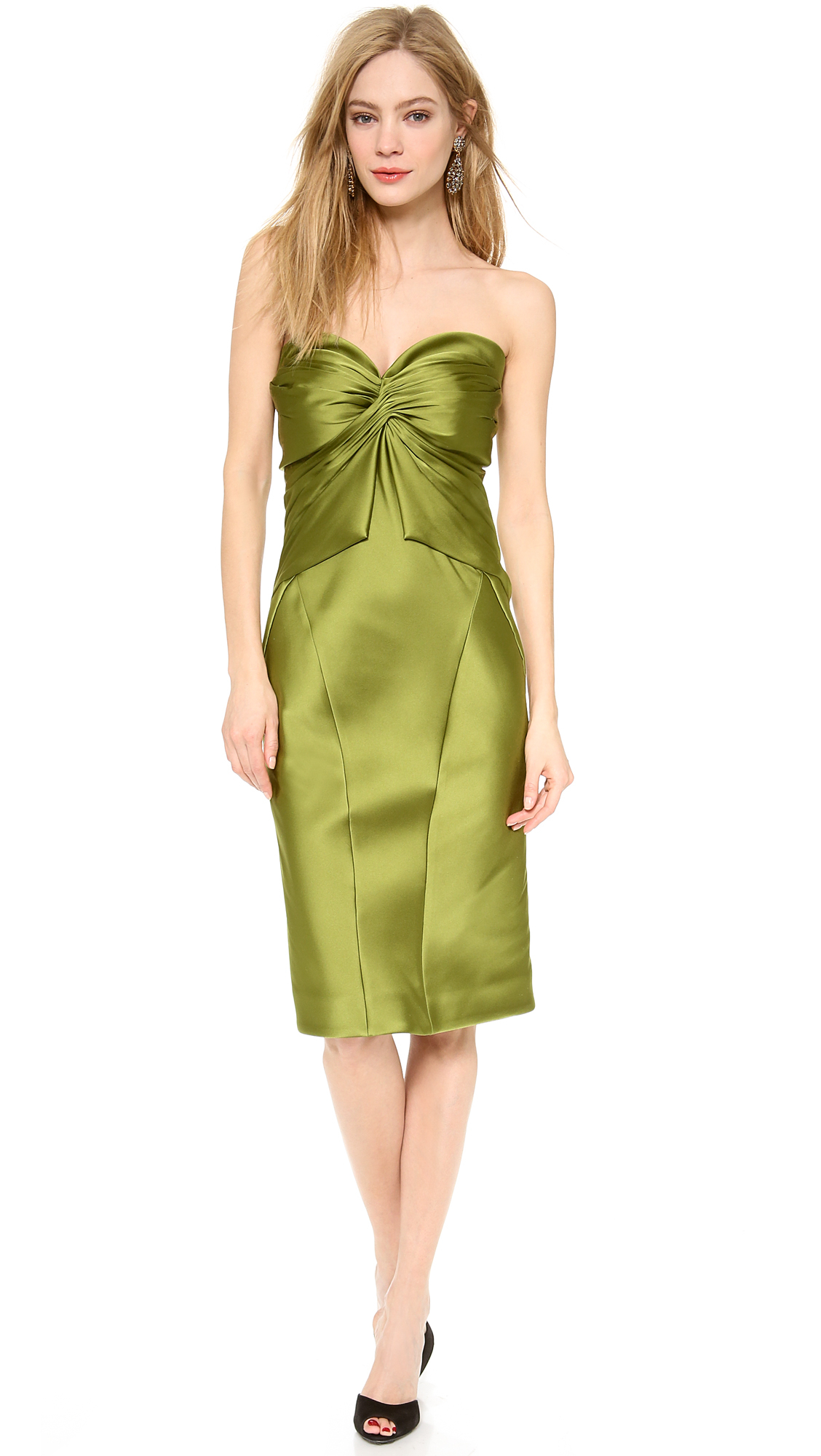 Lyst - Zac Posen Strapless Cocktail Dress